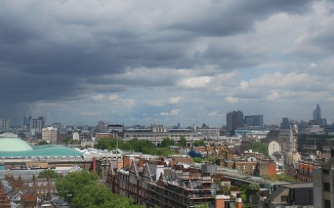 View of London from the office fitout project